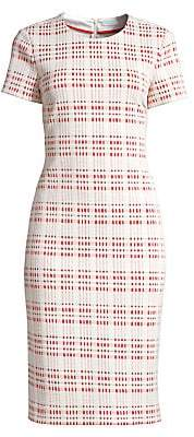 BOSS Women's Decka Check Short-Sleeve Sheath Dress