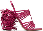Moschino Fringed leather sandals