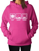 TeeStars - Coder Gift Idea - Eat Sleep Code - Funny Programmer Women Hoodie
