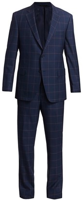 Saks Fifth Avenue COLLECTION BY SAMUELSOHN Classic-Fit Windowpane Wool Suit