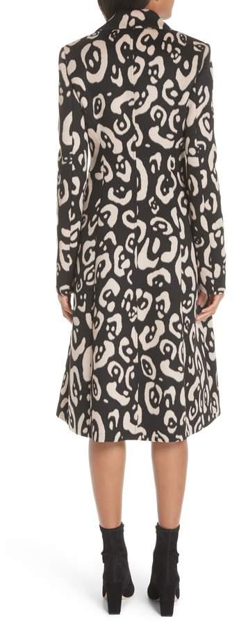Altuzarra Driss Leopard Print Wool Blend Coat
