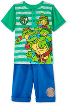 Nannette Ninja Turtles 2-Pc Shirt & Shorts Set, Toddler & Little Boys (2T-7)