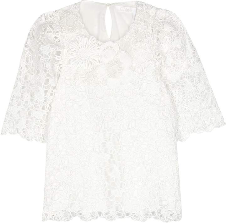 Chloé Lace cotton top