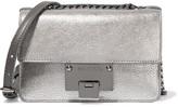 Jimmy Choo Rebel Mini Metallic Textured-leather Shoulder Bag - Silver