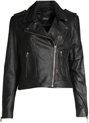 LAMARQUE Donna Leather Biker Jacket