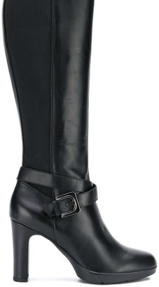 Geox Buckled Knee-Length Boots