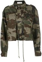 Faith Connexion camouflage cropped jacket - women - Cotton - S