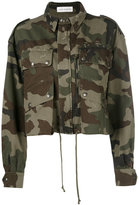 Faith Connexion camouflage cropped jacket - women - Cotton - XS
