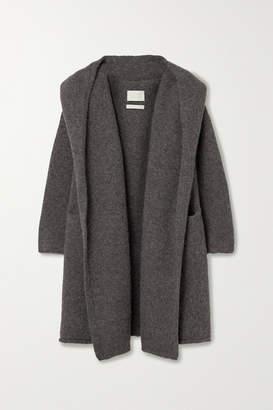LAUREN MANOOGIAN Capote Hooded Alpaca-blend Cardigan - Gray
