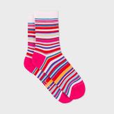 Paul Smith Women's Multi-Coloured Stripe Socks