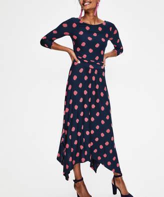 Boden Women's Casual Dresses Navy - Navy Floral Maisie Jersey Midi Dress - Women & Petite