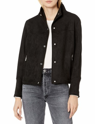 Vince Camuto Women's Faux Suede Snap Front Jacket