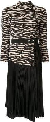 A.L.C. contrast zebra print dress