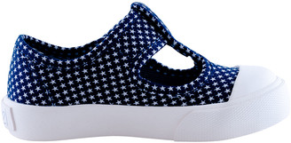 Level Girl's Star Dot T-Strap Canvas Sneakers, Baby/Toddler/Kids