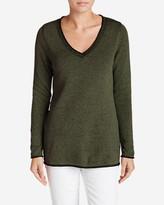 Eddie Bauer Women's Sweatshirt Sweater - Solid V-Neck