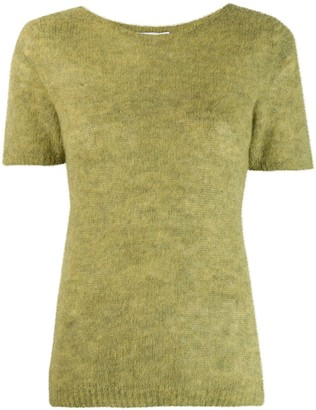 Societe Anonyme short sleeve knitted top