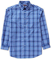 Roundtree & Yorke TravelSmart Long-Sleeve Medium Plaid Sportshirt