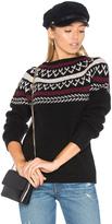 Anine Bing Neck Knit Detail Sweater