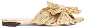 Loeffler Randall Daphne Flat Metallic Leather Sandals
