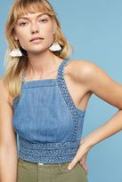 Maeve Braided Cropped Halter Top, Blue