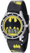 Batman Kids' BAT4068 Black Silicone Printed Logo Strap Watch