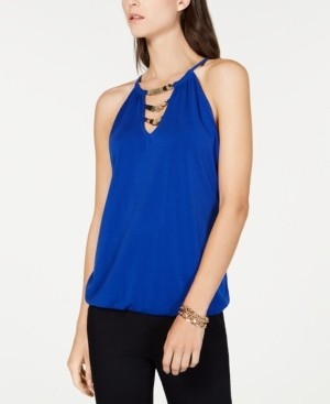 INC International Concepts Inc Embellished Halter Top, Created for Macy's