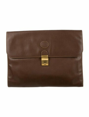 Gucci Vintage Leather Portfolio Brown