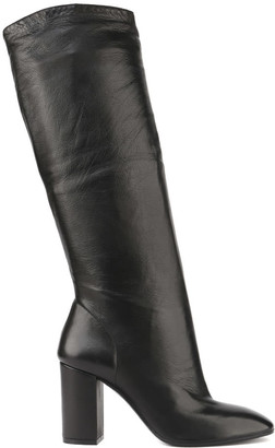 Aldo Castagna Black Leather High Boots