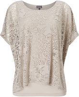 Phase Eight Fatima Floral Burnout Top, Mushroom