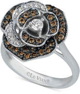 LeVian Le Vian Chocolatier® Diamond Rose Ring (5/8 ct. t.w.) in 14k White Gold