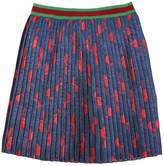 Gucci Bow Silk & Lurex Blend Pleated Skirt