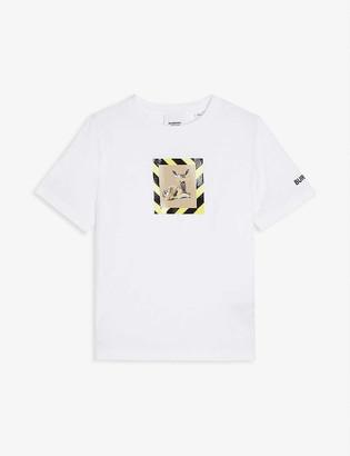 Burberry Deer-print cotton-jersey T-shirt 3-14 years
