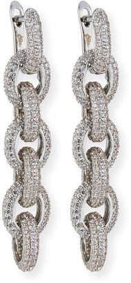 Fallon Forever Pave Link-Drop Earrings