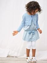 Vertbaudet Girls Outfit Set: Dress + Cardigan + Leggings