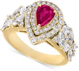 RARE Featuring GEMFIELDS Certified Ruby (5/8 ct. t.w.) and Diamond (1-1/10 ct. t.w.) Ring in 14k Gold