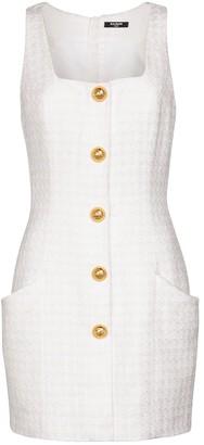 Balmain Cotton-blend tweed minidress