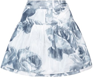 Marchesa Rose Print Skirt
