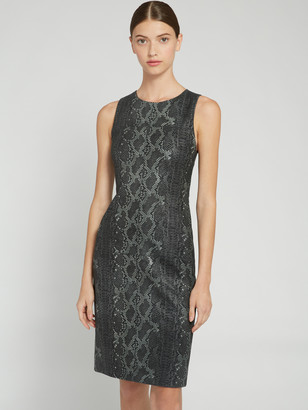 Alice + Olivia Larita Snake Skin Leather Dress