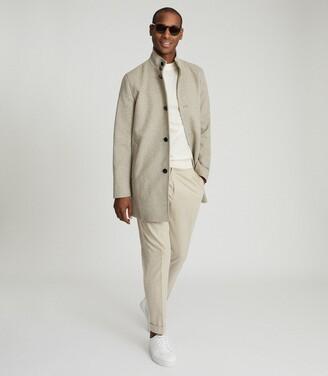 Reiss Bellugi - Wool-blend Mid-length Coat in Oatmeal