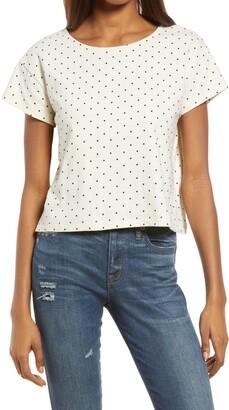 Madewell Polka Dot Cap Sleeve Boxy T-Shirt