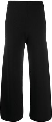 D-Exterior Wide-Leg Wool Trousers