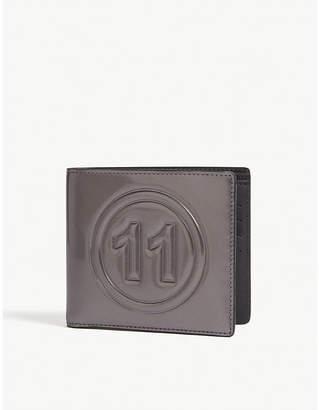 Maison Margiela Metallic leather billfold wallet