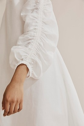 Country Road Ruched Sleeve Dress