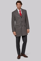 Moss Bros Tailored Fit Grey Double Faced Overcoat