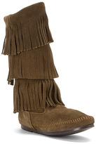 Minnetonka Women's Calf Hi 3-Layer Fringe Boot - Limited Edition