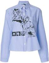 Prada comic book pinstripe shirt