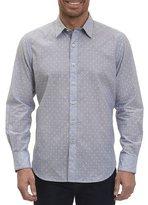 Robert Graham Dogtown Fil Coupé Band-Collar Shirt, Indigo