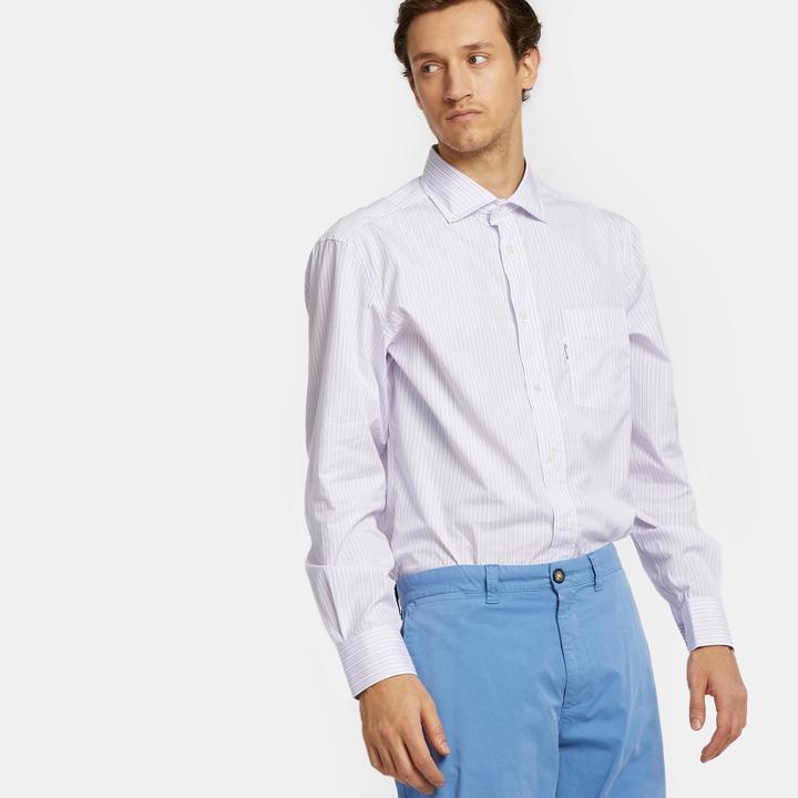 Façonnable Men's Patterned Stripe Button Down Shirt