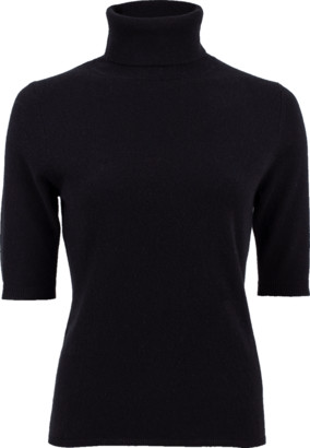 Allude Elbow Sleeve Turtleneck Sweater
