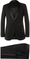 Giorgio Armani - Black Slim-fit Silk-trimmed Virgin Wool Tuxedo